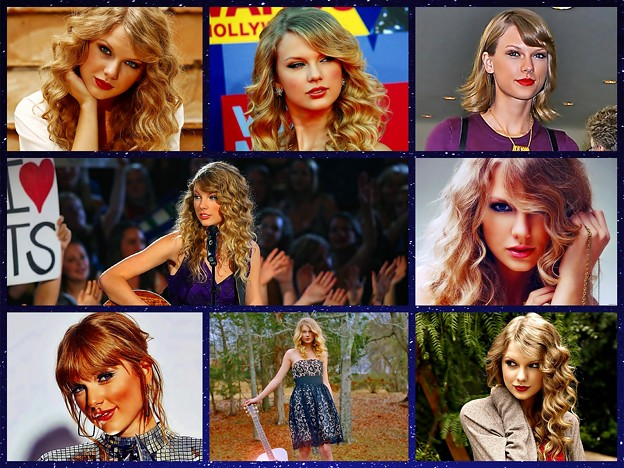 Beautiful Blue Eyes of Taylor Swift(11187) Collage