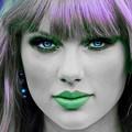 Beautiful Blue Eyes of Taylor Swift(11220)
