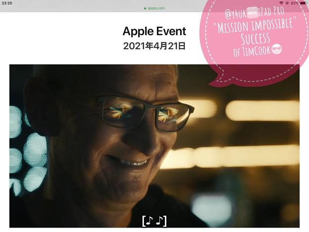 "4.21#AppleEvent""Mission impossible Success of@Tim_Cook""Macから抜いたM1→iPadProへ移植成功( ̄▽ ̄)「M1とミニLED他凌駕する新型」"