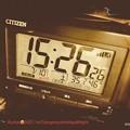 """7.10_15:26:26""""46%35.1℃熱中症危険点滅""""急に今年初の猛暑酷暑で体慣れてなく朦朧めまいフラフラ深夜も熱帯夜1日危険!スプレーしまくり今夏も暑い部屋家外が怖い…フィルム風焼けエモいiP"""