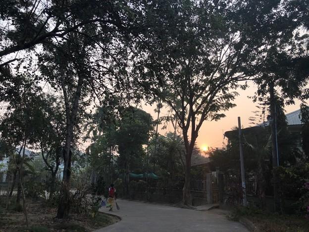 2月28日の朝の太陽 (2)