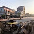 Photos: ミャンマーデモ隊の道路封鎖 (2)