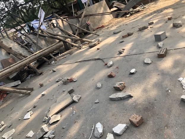 道路封鎖 ヤンゴン (4)
