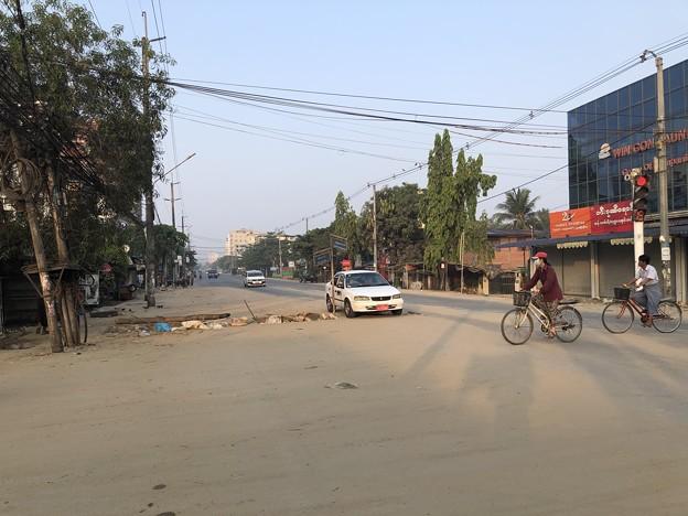 ヤンゴン 消えた路上のバリケード (7)