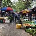 戒厳令下のヤンゴンの市場 (1)