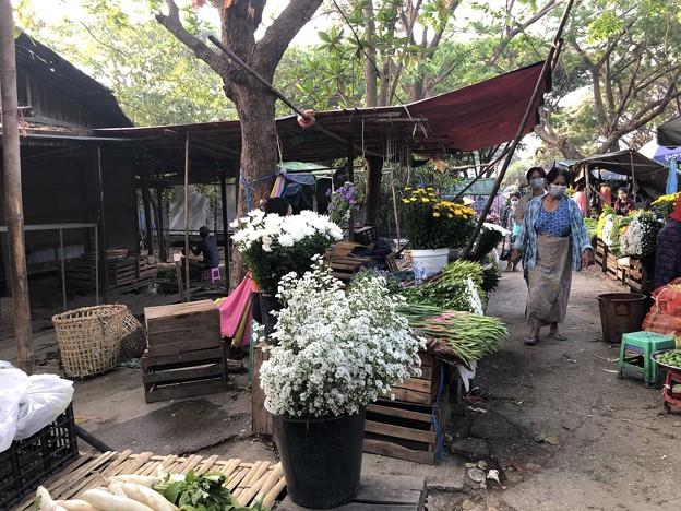 戒厳令下のヤンゴンの市場 (6)