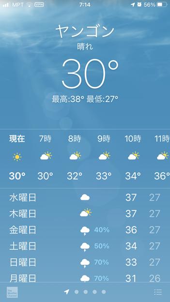 5月18日朝7時の気温