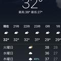 Photos: 5月17日夜8時の気温