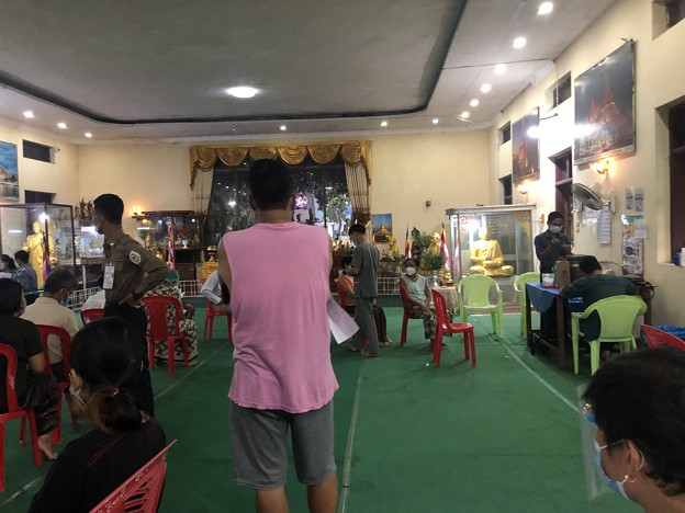 ヤンゴンのコロナワクチン接種会場 (5)