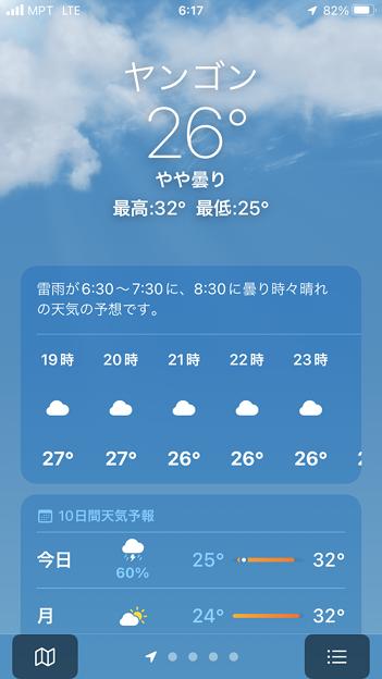 10月24日のヤンゴンの気温