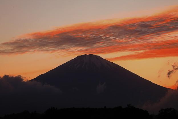 高層雲の夕景_そろそろピーク