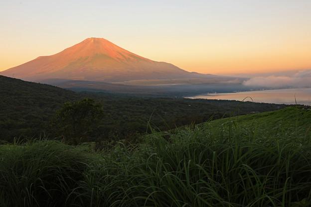 赤富士 峠から