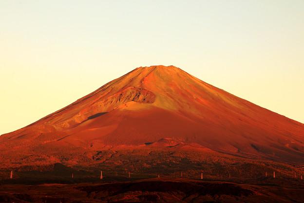 シーズン最後の赤富士