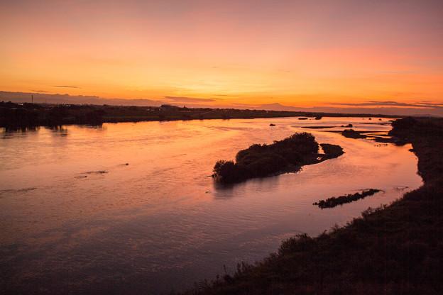 Photos: 利根川の夕焼け