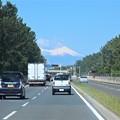 正面に富士山