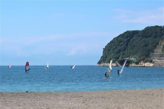 平日の逗子海岸~ウインドサーフィン