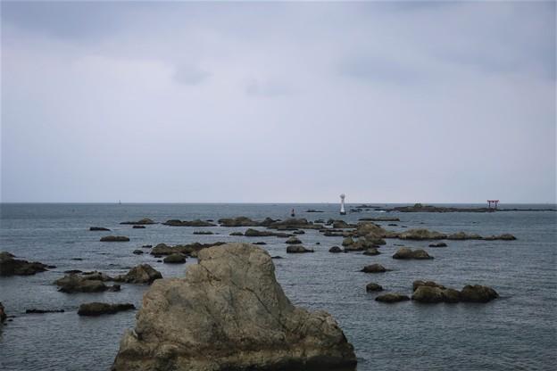 曇天 森戸海岸