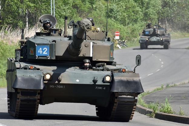 C経路 90式戦車 第73戦車連隊