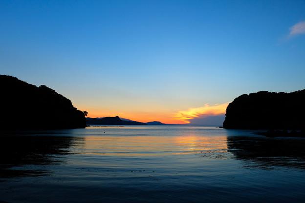 忍路湾の夕暮れ