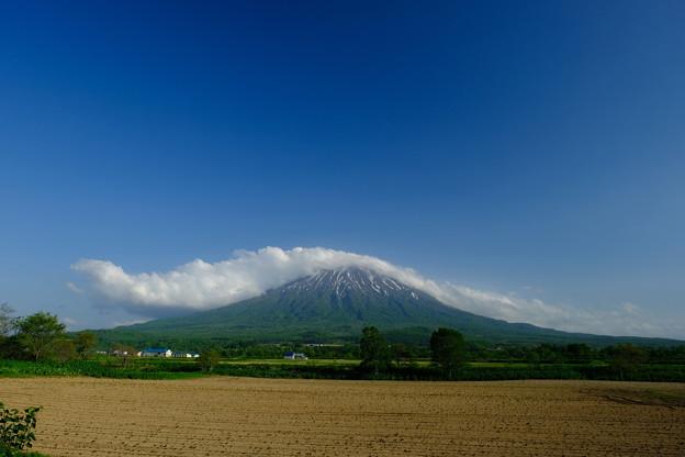 雲を頂く羊蹄山 その1