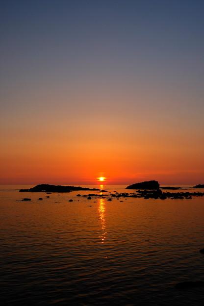 黄金岬の夕日 その1