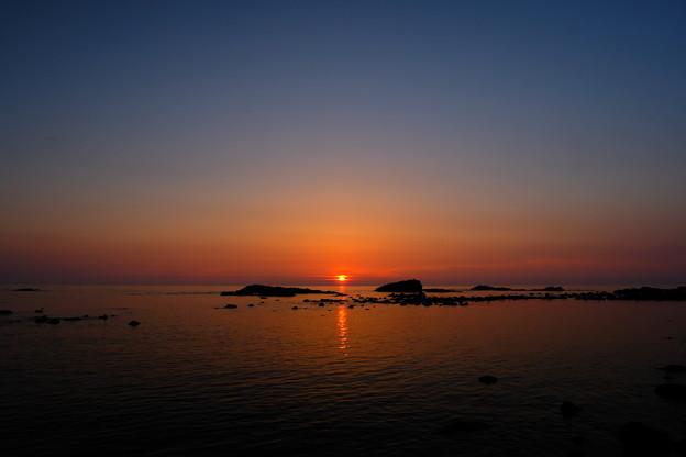 黄金岬の夕日 その2