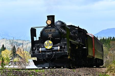 C57 180牽引SLばんえつ物語@細田新田踏切