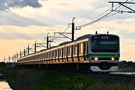 夕暮れの成田線E231系