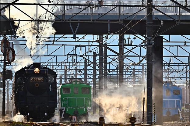 C58 363牽引SLパレオエクスプレス武川駅発車