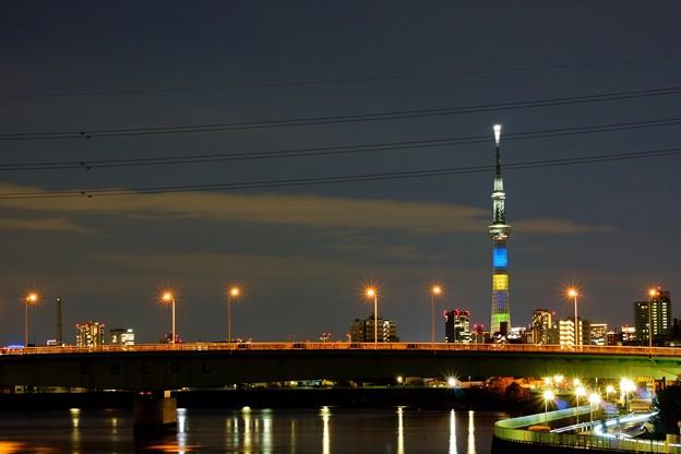 Photos: スカイツリー 東京2020オリンピック競技大会開催まで半年前点灯
