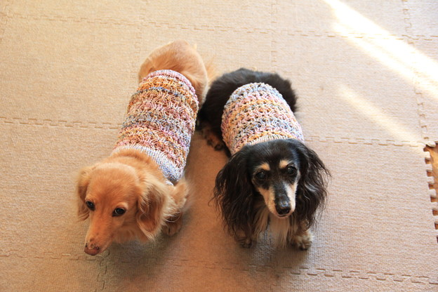 透かし編みのキャミソール