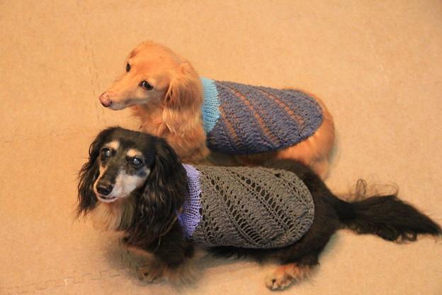 斜め編みのキャミソール