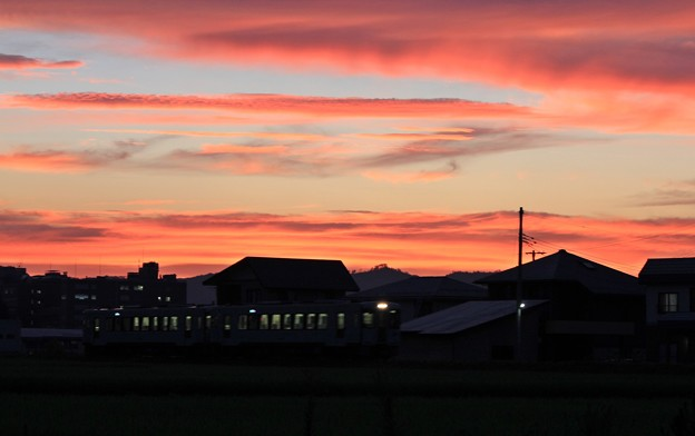 夕刻の列車
