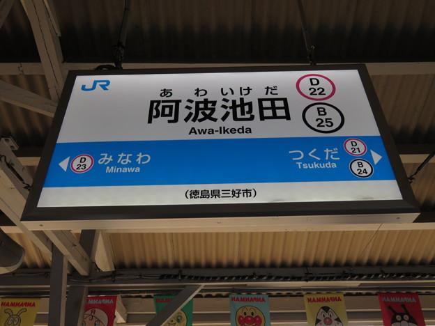 #D22 阿波池田駅 駅名標【1】
