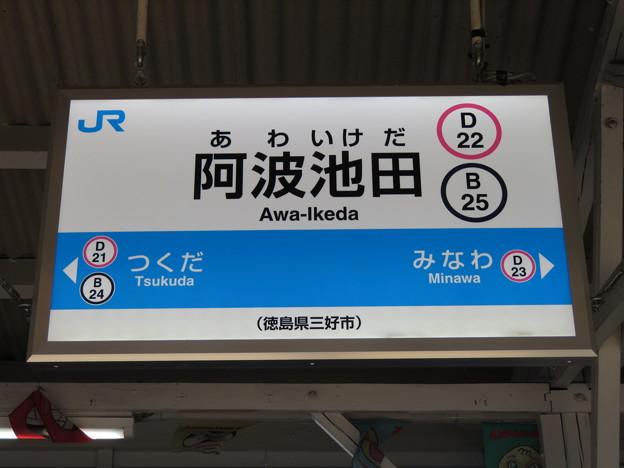 #D22 阿波池田駅 駅名標【2】