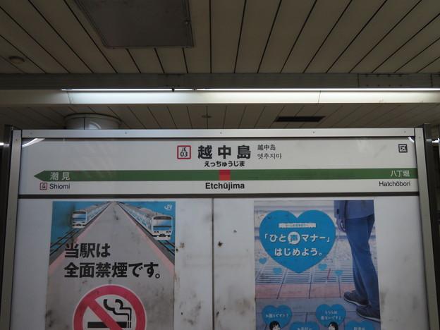 #JE03 越中島駅 駅名標【下り 1】