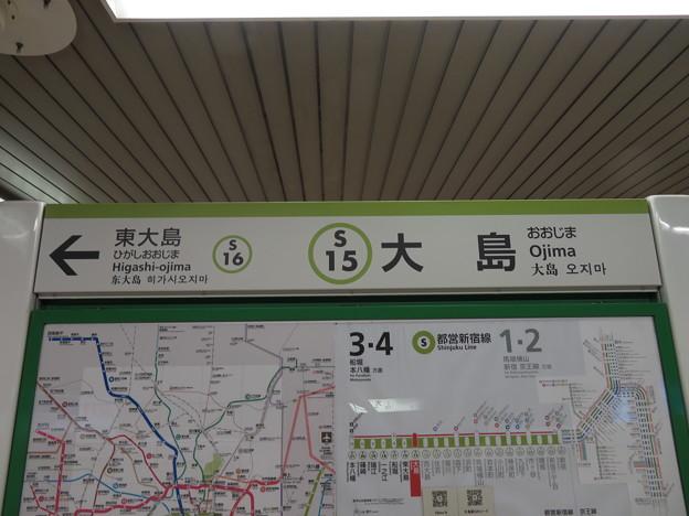 #S15 大島駅 駅名標【本八幡方面 2】