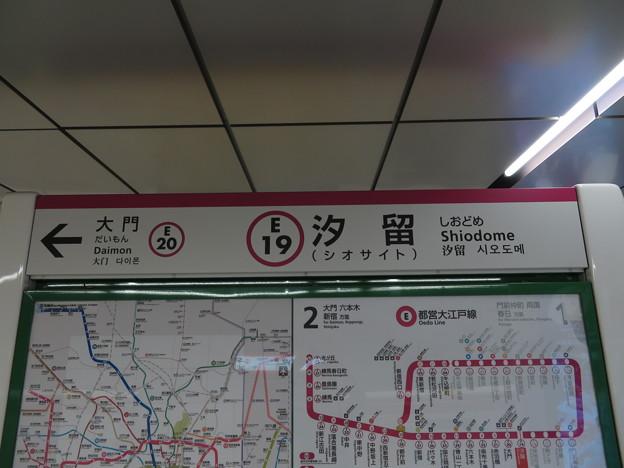 #E19 汐留駅 駅名標【光が丘方面 2】