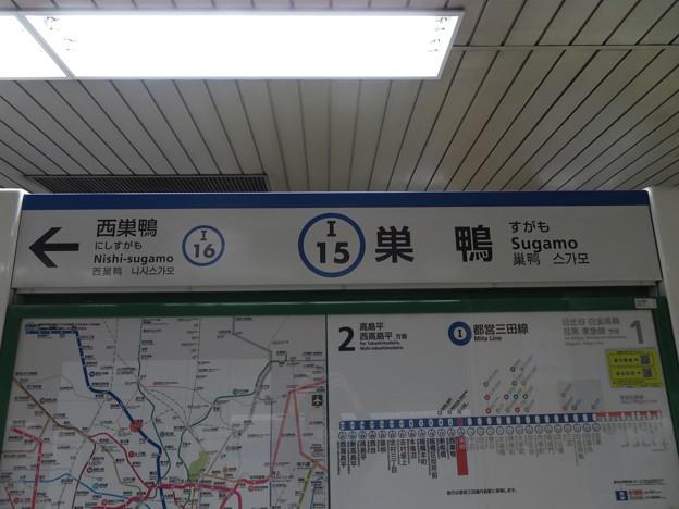 #I15 巣鴨駅 駅名標【下り 2】