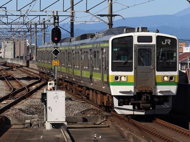 両毛線211系3000番台 A28編成【矢絣ラッピング】