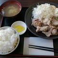 わしの食卓「あごだしからあげ定食」740円ご飯大盛り無料