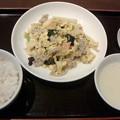 幸龍「ランチ定食」795円豚肉と玉子炒めライスおかわり無料
