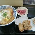 Photos: かつてん「かつ丼&ザンギ」390円毎月10日は390円&199円