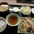 Photos: 海鮮居酒屋&FISH 「天ぷら定食」880 円食後ホット付き