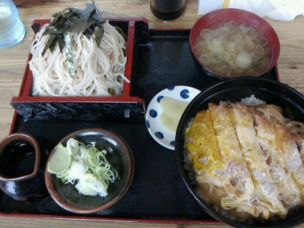 Photos: 芝源「ざるそば定食F 勝丼」850 円