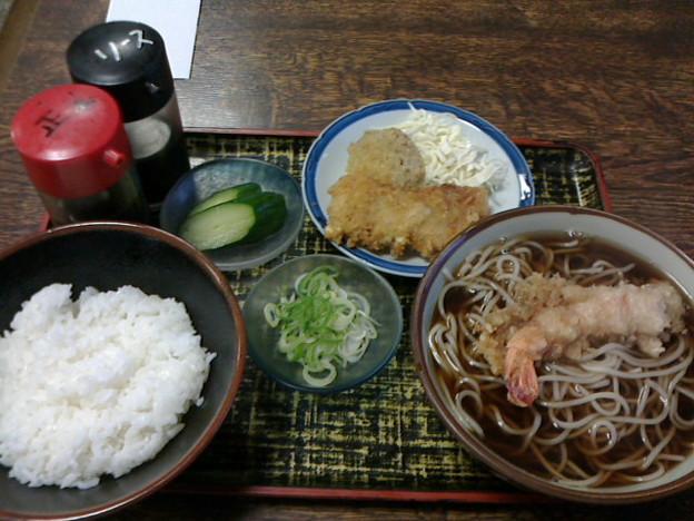 更科本店「天ぷらそばセット」8 50円