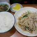 Photos: 大連「豚肉ともやし炒め定食」6 80円