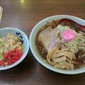 さんぱち「正油ラーメン& ミニチャーハン」550 円&300円さんぱちデー