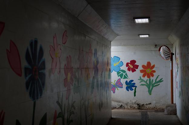 地下道の花