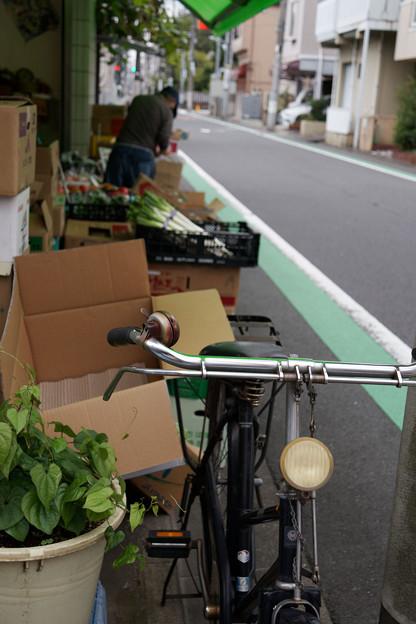 八百屋の自転車